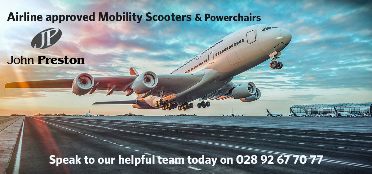 Airline approved mobility equipment with Lithium batteries